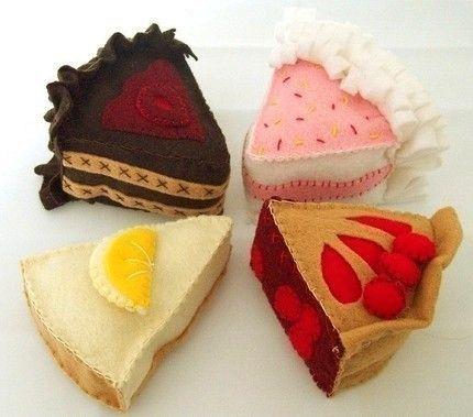 Felt cake slices pattern