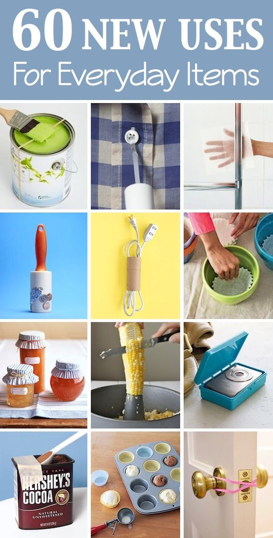 Lots of creative new uses for things you probably already have laying around your house. Via Listotic
