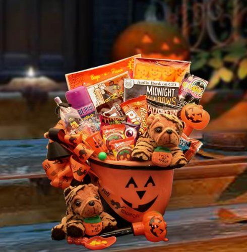 149 best gift basket fun images on pinterest gift baskets halloween fun trick or treat candy gift basket halloween negle Choice Image