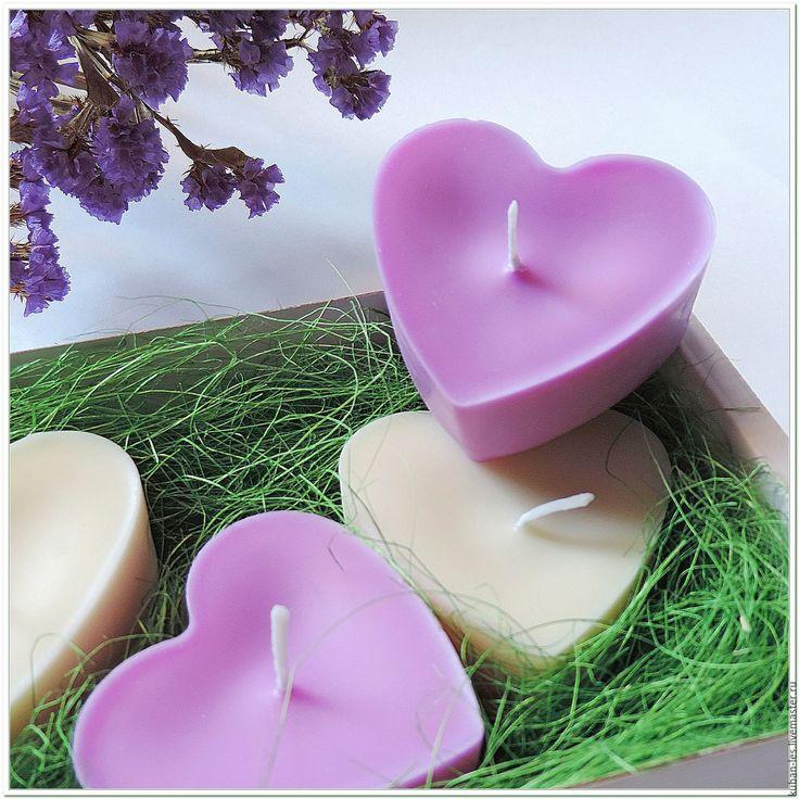 Купить Соевые свечи Лаванда и Пион - натуральные аромасвечи - соевая свеча, Соевый воск