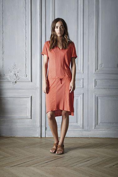#style #outfit #dress #orange #summer #linen #jersey #beautiful #womenswear