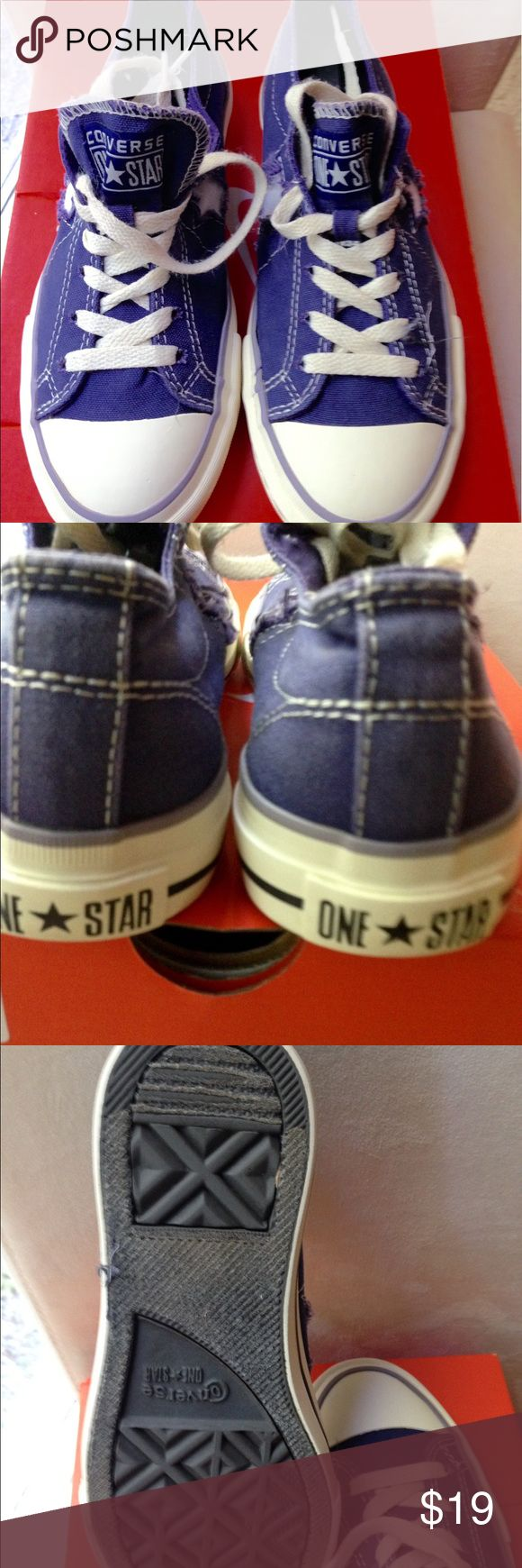 Converse One star purple sneakers size 7 Converse one star purple sneakers size 7 in excellent very clean condition Converse Shoes Sneakers