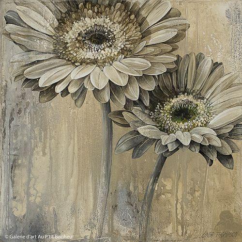 Linda Thompson, 'Neutral Whispers B', 12'' x 12'' | Galerie d'art - Au P'tit Bonheur - Art Gallery