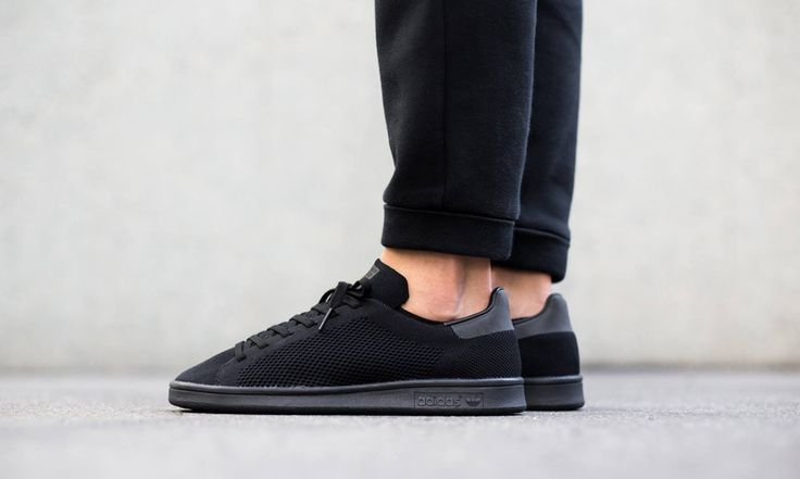 The Three Stripes lands a definitive haymaker with this latest all-black Primeknit edition of the classic Stan Smith.