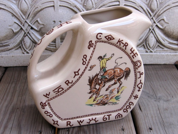 Wallace China Rodeo pitcher. & 42 best Wallace western dishes images on Pinterest | Dinner ware ...