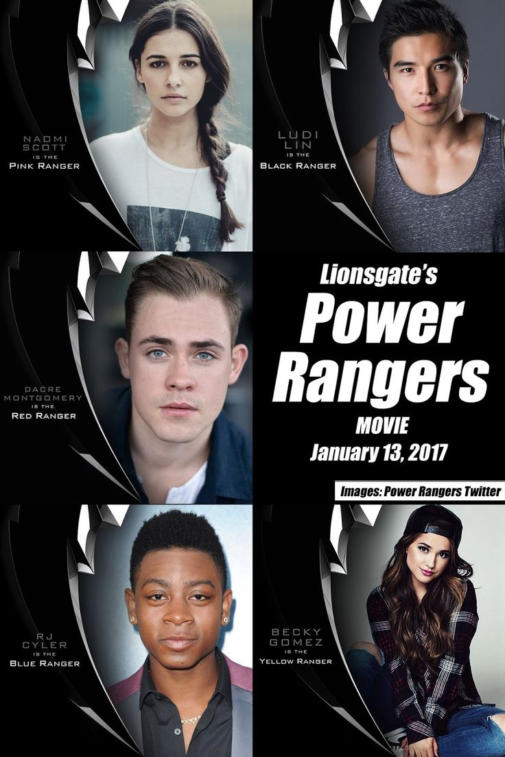 five core members completed lionsgates power rangers