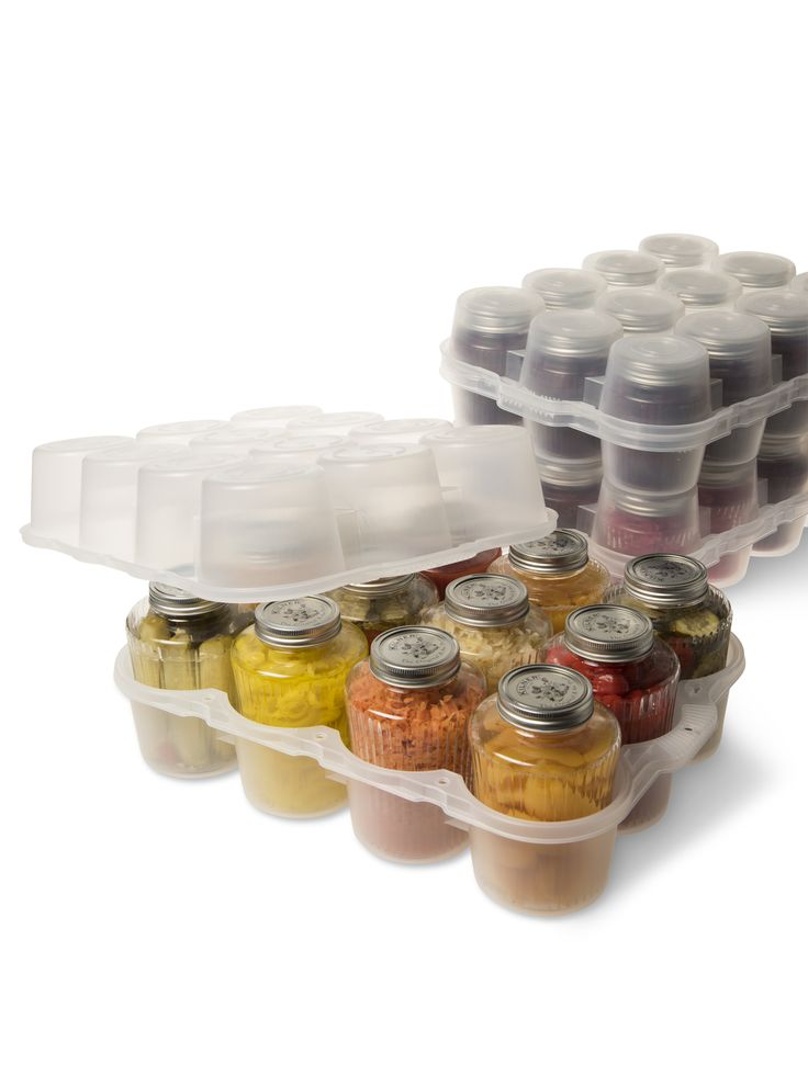 Canning Jar Storage Box, Quart- SO AWESOME...but $20 a piece!!! Ouch. Gotta find them cheaper.