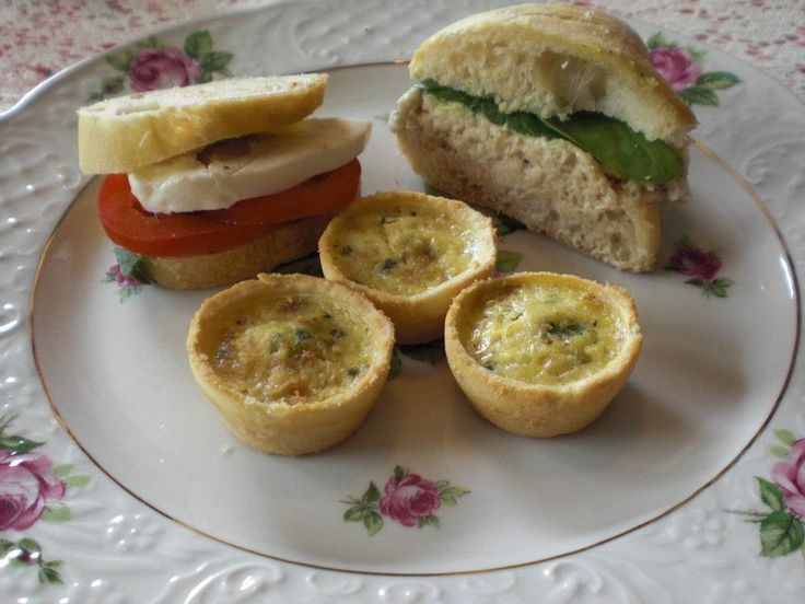 An example of tea party food.