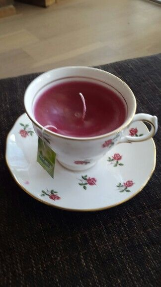 Kaars kopje thee