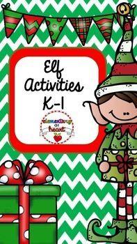 #tpt #tptpins #elf #activities #christmas #elementary #printable #worksheets #fun #december