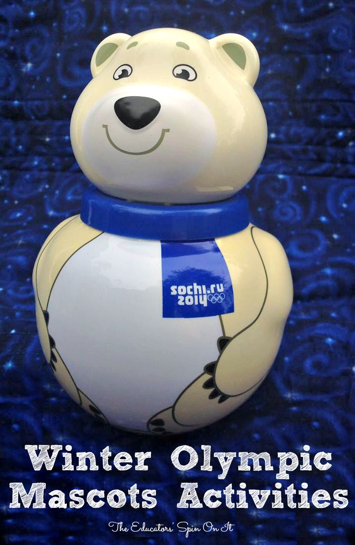 Winter Olympic Mascots and Activities for Sochi 2014 from The Educators' Spin On It