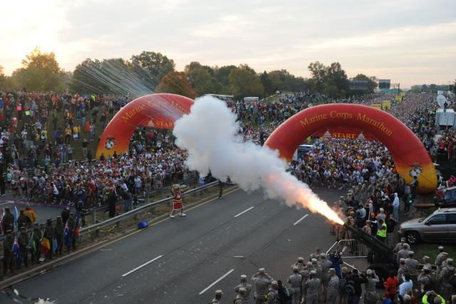 A Guide to the Marine Corps Marathon and Weekend Events: Start of the Marine Corps Marathon