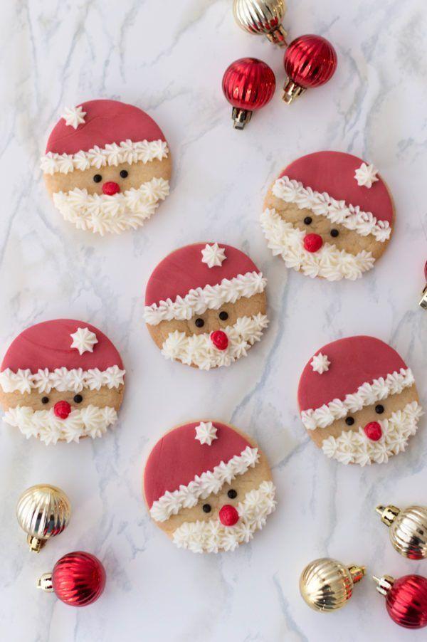 Easy Santa Sugar Cookies Recipe Sweet Eats Pinterest Cookies