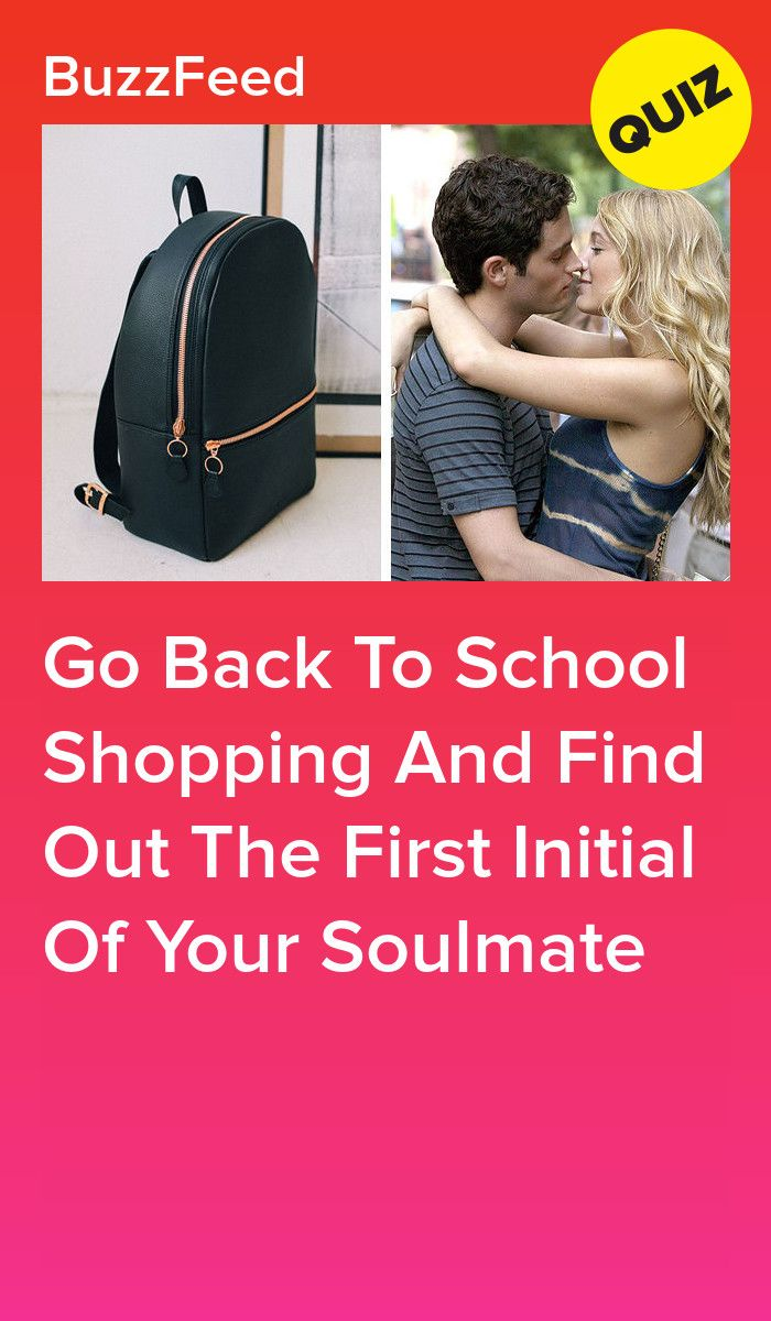 Prepare Your School Bag And Find Out The First Initial Of