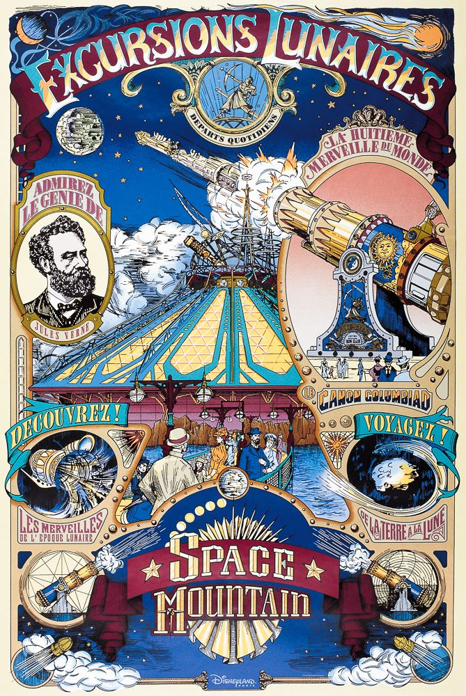 Disneyland Paris Attractions Poster                                                                                                                                                                                 Plus