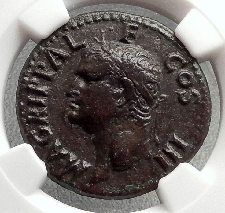 Marcus Vipsanius Agrippa Augustus General Ancient Roman Coin CALIGULA NGC i66636