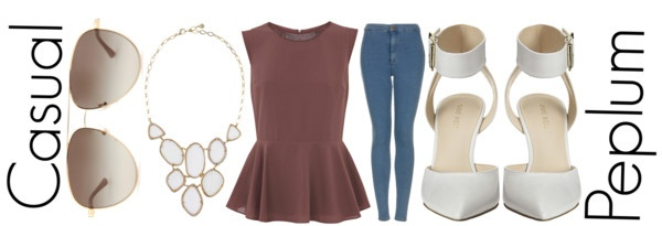 """Casual Peplum"" by michelleanned on Polyvore"