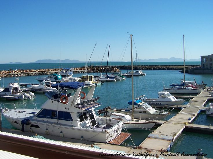 Lovely view! Boats at the Boardwalk Accommodation. Gordon's Bay accommodation. Boardwalk Accommodation Gordon's Bay.