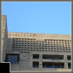 Ennis House / 2607 Glendower Ave, Los Angeles, California / 1924 / Textile Block / Frank Lloyd Wright -- Despite its significance, the Ennis House suffered greatly over the years from deferred maintenance, deterioration of the concrete blocks, the 1994 Northridge earthquake, and record rainfall in 2005.