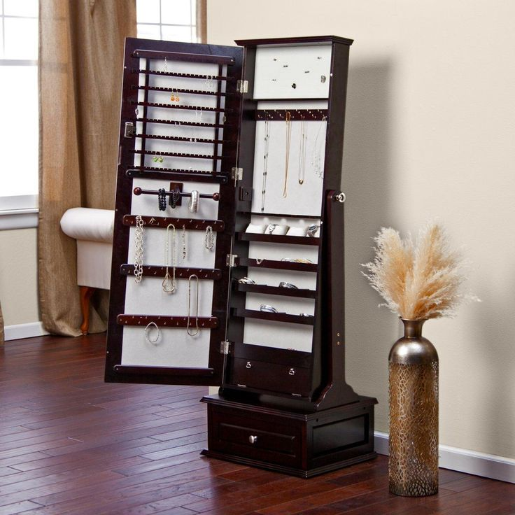 belham living removable locking mirrored cheval jewelry armoire espresso the removable decorative top locking mirrored cheval jewelry