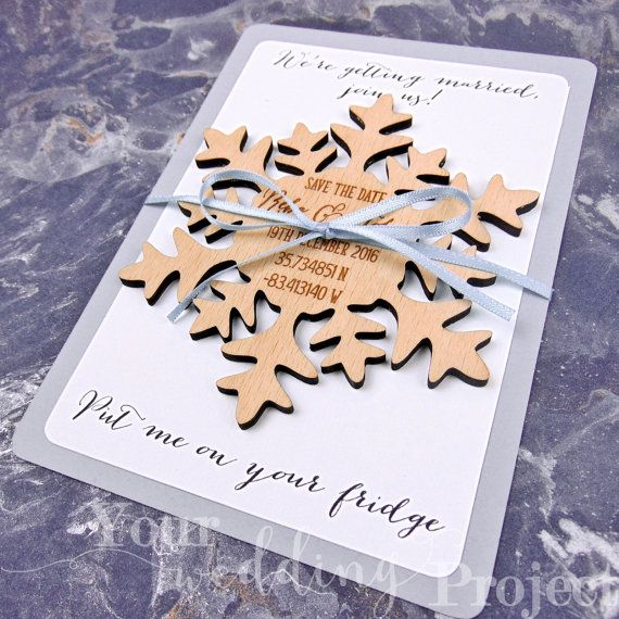 Save The Date Wedding Invitation Ornaments Save The Date: Snowflake Save The Date Custom Save The Date By