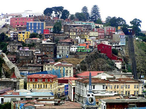 Valparaiso, Chile.  At least the Spanish colonizers liked colour.