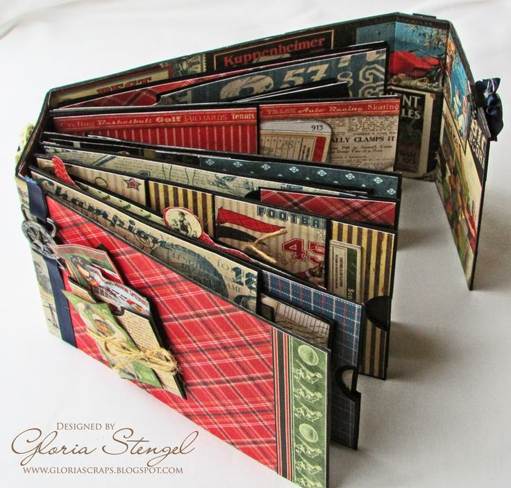 ~great flaps & pockets incorporated~  Scraps of Life: Graphic 45 Good Ol' Sport Mini Album Tutorial