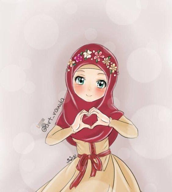 25 Gambar Kartun Lucu Anak Kecil 75 Gambar Kartun Muslimah Cantik