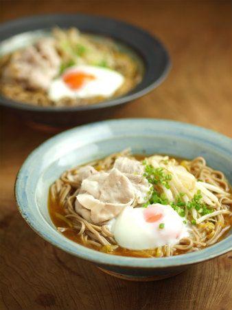 冷やしカレーそば、冷しゃぶ、温玉のっけ - 魚料理と簡単レシピ