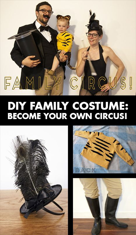 diy family costume become your own circus heres a unique family friendly halloween costume - Creative Halloween Costume Idea