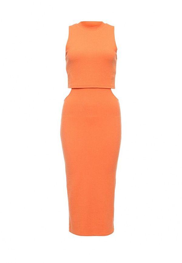 Платье MinkPink  Платье MinkPink. Цвет: оранжевый.  Сезон: Весна-лето 2016. Одежда, обувь и аксессуары/Женская одежда/Одежда/Платья