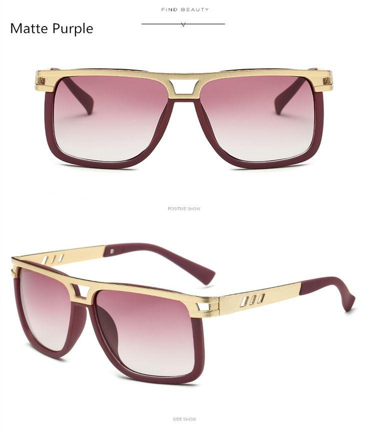 Women Brand Designer Vintage Big Frame Sun Glasses For Men 2017 Fashion Square Flat Top Sunglasses Oculos De Sol Feminino Great, huh? Visit our store