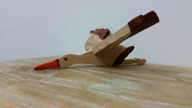 Wood Toy Stork