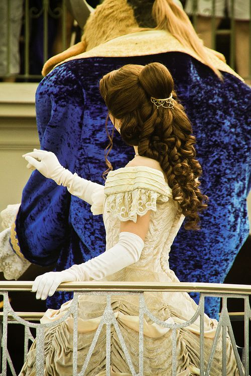 Beauty and the Beast, absolutely love to the dress, I want my wedding dress llok like this