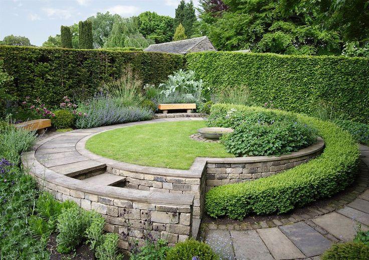 York Gate Garden Лидс. Йоркшир. Англия.