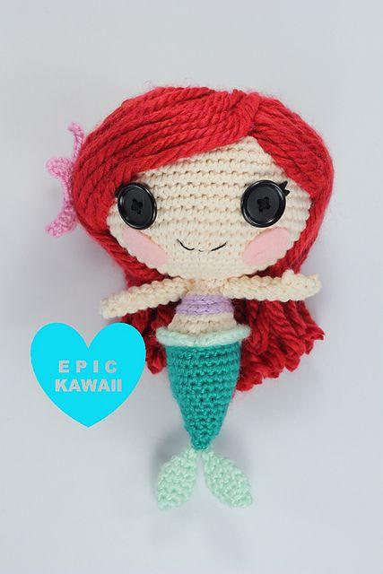 Ravelry: LALALOOPSY LITTLE Ariel Crochet Amigurumi Doll pattern by Epic Kawaii
