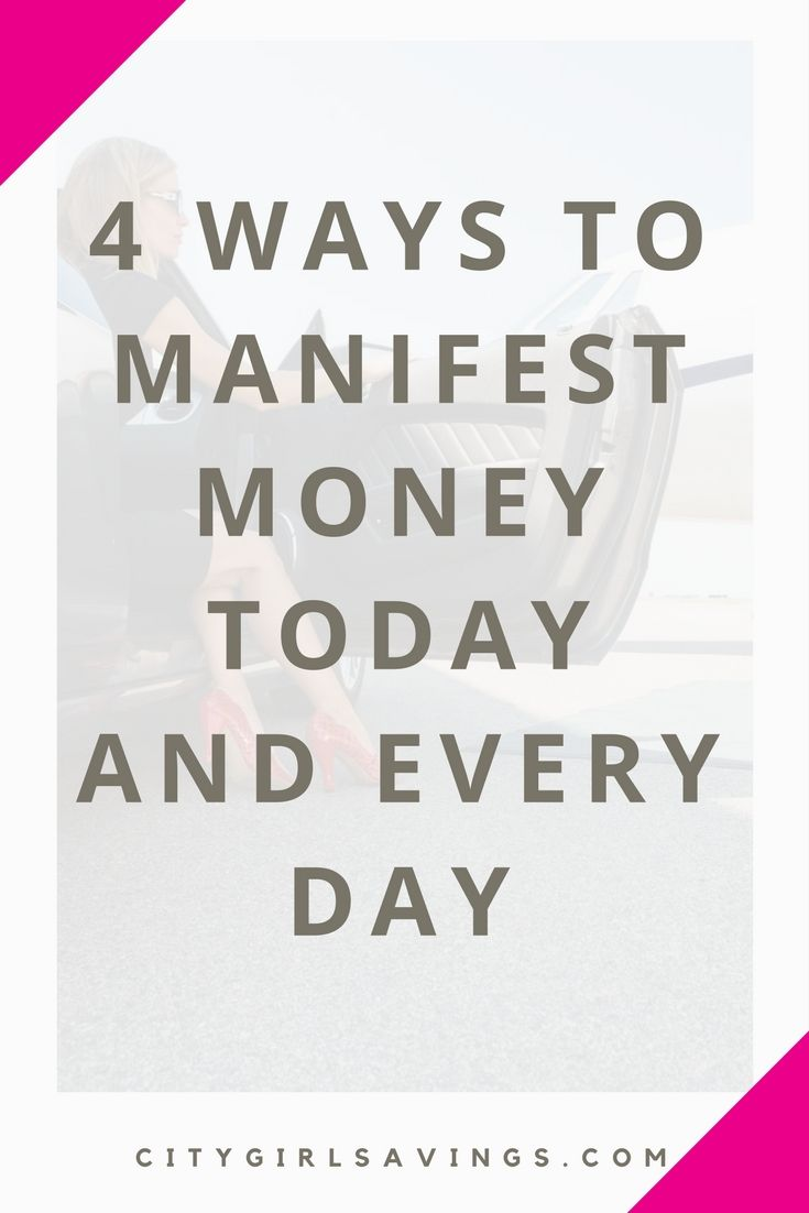 """If the saying """"you are what you think about"""" is true, why not think money? The CGS Team is sharing 4 money manifestations to start today and use each day moving forward. If you can manifest more money into your life, you can reach your goals faster!"""