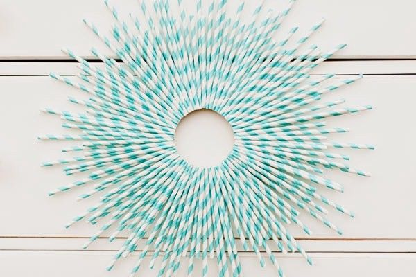 DIY drinking straw wreath tutorial and 10 more ideas