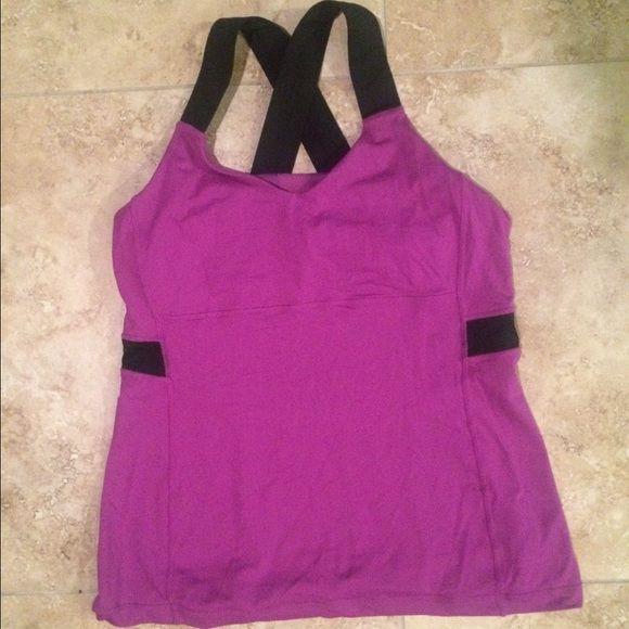 LULULEMON Athletica Woman's Criss Cross Tank. LULULEMON Athletica Woman's Criss Cross tank.  Purple | Black - Great condition! lululemon athletica Tops Tank Tops