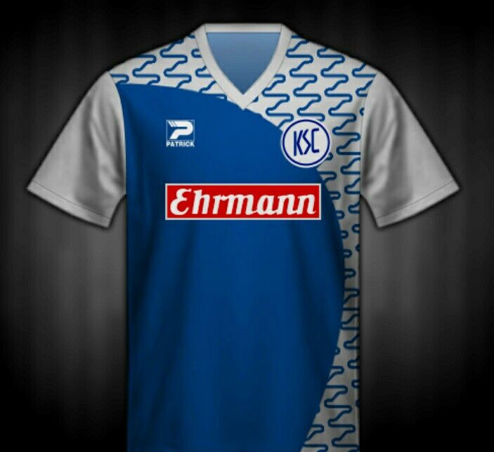 Karlsruher SC of Germany away shirt for 1993-94.