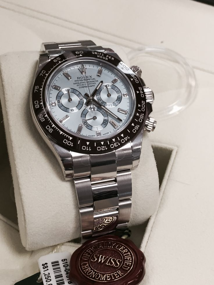 Rolex Oyster Perpetual Daytona Cosmograph with Blue Dial and Diamonds