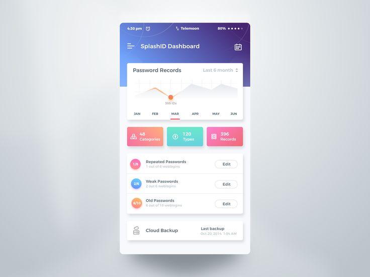 SplashID App – User interface by Rifayet Uday