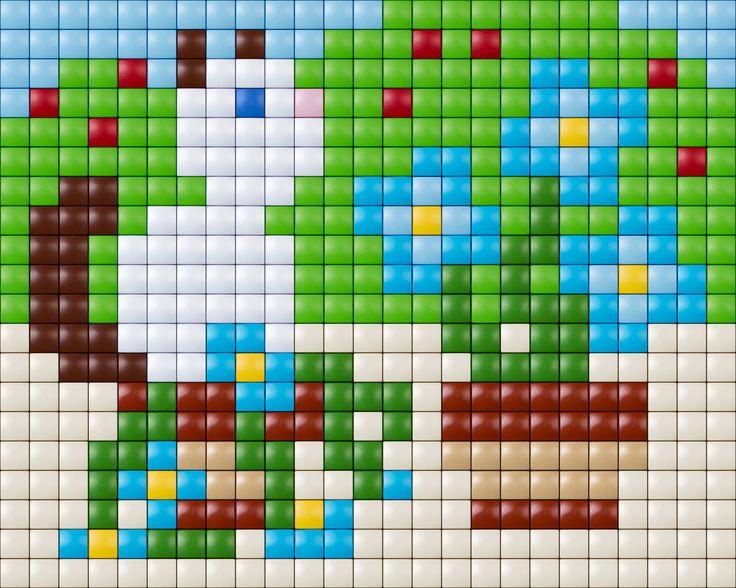 #pixelhobby #pixel #pixelen # creative #beads #cat #bloemen #flowers