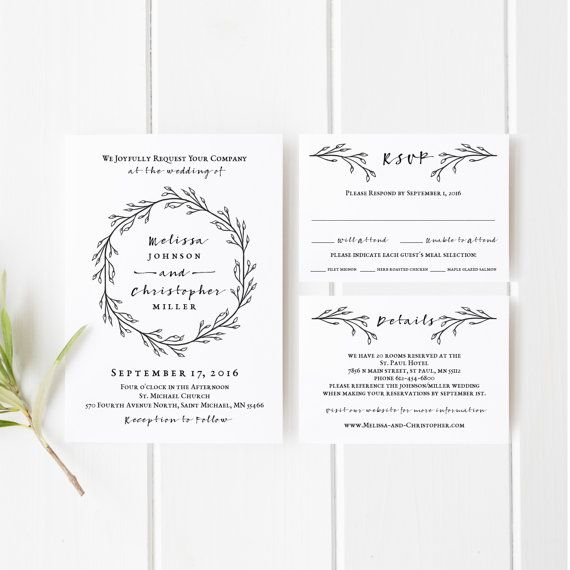 15 best Printable Wedding Invitations images on Pinterest