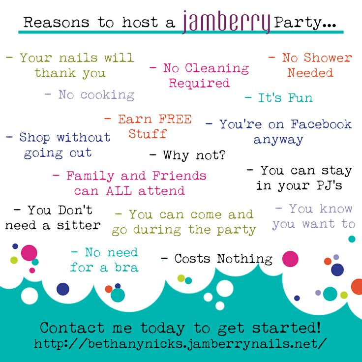Reasons to host an ONLINE Jamberry party.... http://www.bethanynicks.jamberrynails.net/