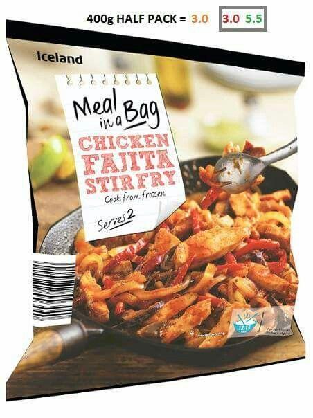 Half a bag of Chicken Fajita stirfry = 3 syns
