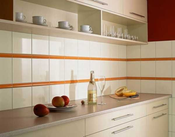 Download Wallpaper White Kitchen Tiles Design
