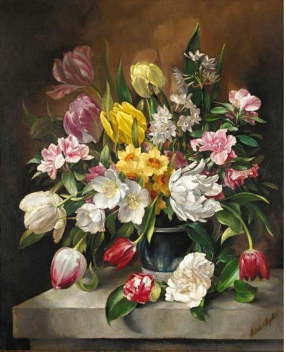 168 best Painting flowers II images on Pinterest