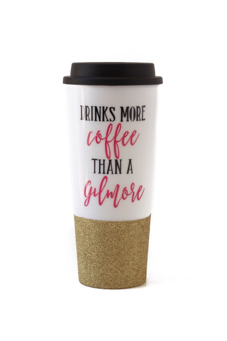 She drinks more COFFEE than a GILMORE - Luke's Diner - Lorelai - Rory - Stars Hollow - Reusable Coffee Cup - Coffee To Go Cup by TheJargonBar on Etsy https://www.etsy.com/listing/453413842/she-drinks-more-coffee-than-a-gilmore
