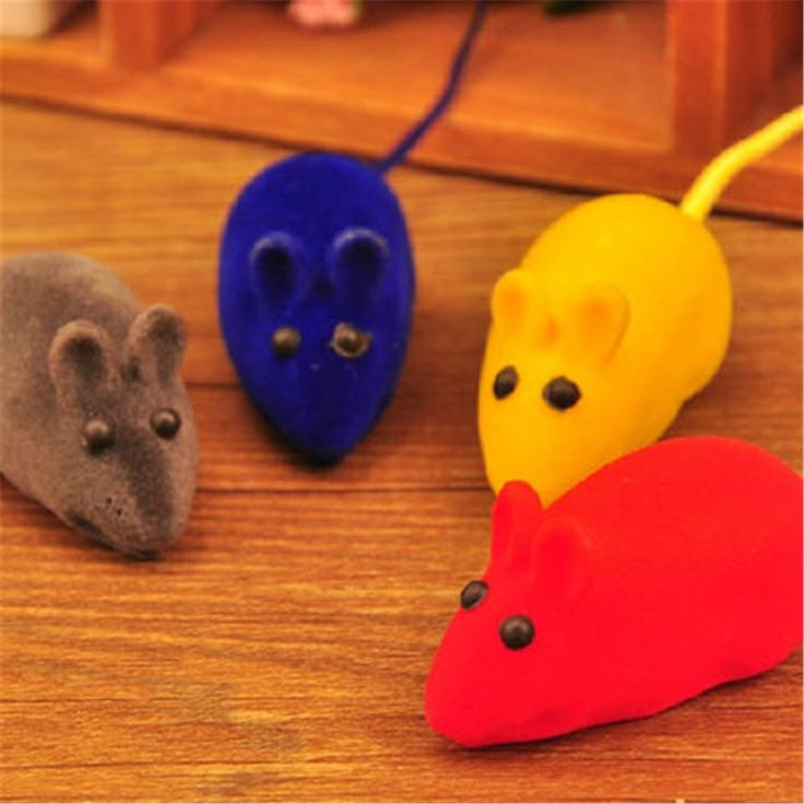 Plush Soft False Mouse Cat Toy Interactive Funny Gatos Animal Pets Supplies Interesting Hamster Product For Kittens QQM2173
